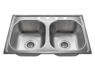 Double Bowl 20G Stainless Steel 8in Sink